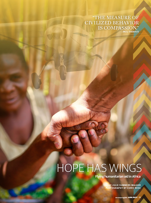 Hope Has Wings artwork, woman shaking hand